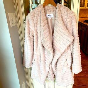 BB Dakota Blush Faux Fur Coat